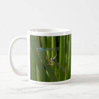 dragonflies in love mugs