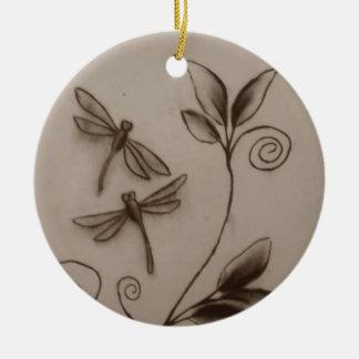 Dragonflies.jpg Ceramic Ornament