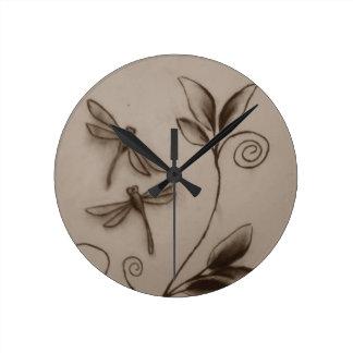 Dragonflies.jpg Round Clock