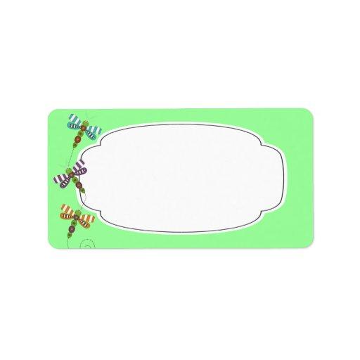 Dragonflies Label Custom Address Labels