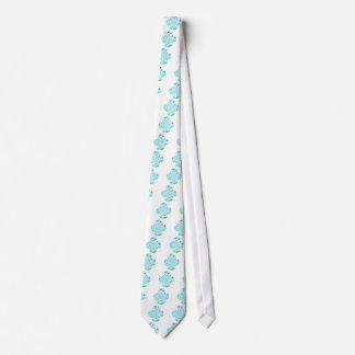 Dragonflies, Lily Flowers Art Neck Tie