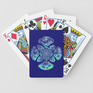 Dragonflies, Lily Flowers pattern Bicycle Playing Cards