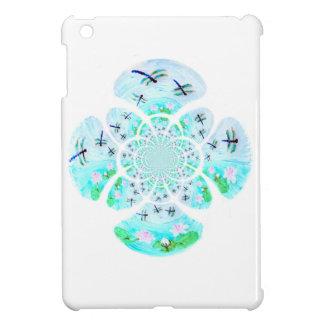 Dragonflies, Lily Flowers pattern iPad Mini Cases