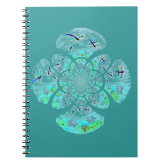 Dragonflies, Lily Flowers pattern Notebook