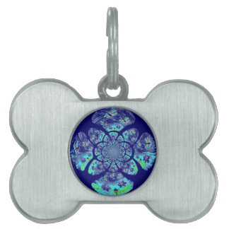Dragonflies, Lily Flowers pattern Pet Tag