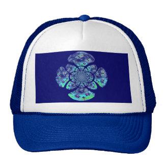 Dragonflies, Lily Flowers pattern Trucker Hat