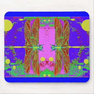 Dragonflies meeting Moom Lit Garden by sharles Mouse Pads