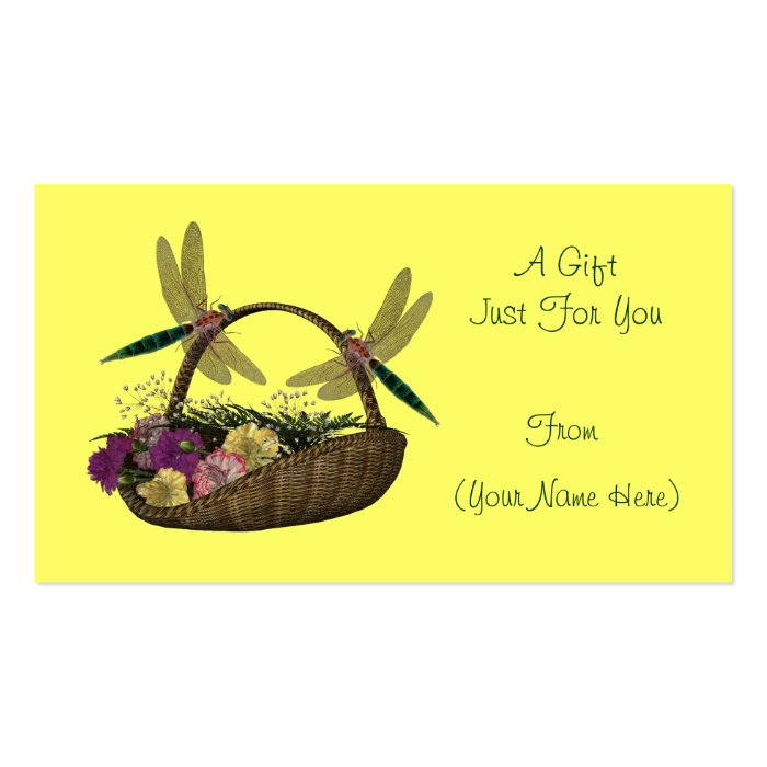 On basket personalized gift card tag business card for Personalized gift cards for businesses
