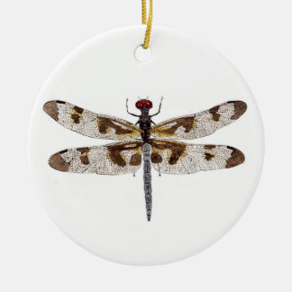 Dragonflies on both sides christmas tree ornaments