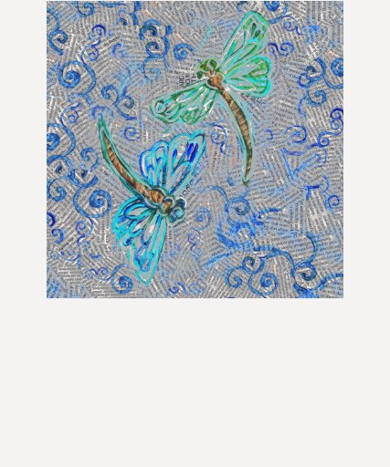 Dragonflies on Recycled Paper T-shirt