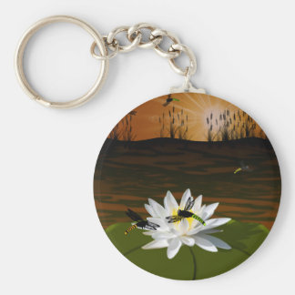 Dragonflies on the Pond Keychain