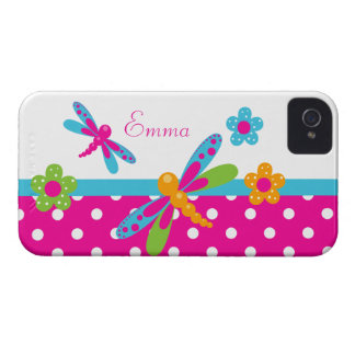 Dragonflies Pink/Blue  BlackBerry Bold Case-Mate iPhone 4 Cover