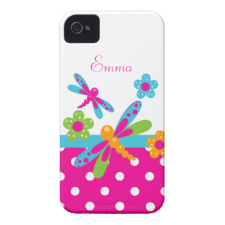 Dragonflies Pink/Blue  BlackBerry Bold Case-Mate iPhone 4 Covers