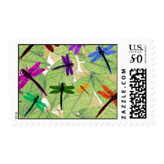dragonflies postage