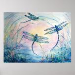 Dragonflies Poster