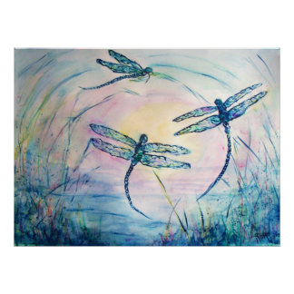Dragonflies Poster