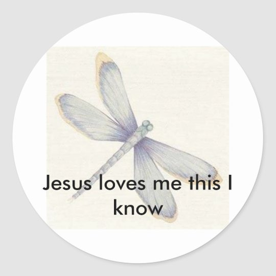 Dragonflies_Print_C12047134%5B1%5D, He Is Risen... Classic Round Sticker