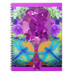 Dragonflies Purple Amethyst Gems Gifts by Sharles Spiral Note Book
