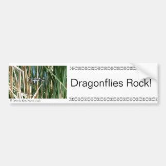 Dragonflies Rock! Car Bumper Sticker