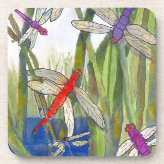 Dragonflies Summer Beverage Coaster