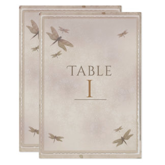 Dragonflies Vintage Dragonfly Chic Table Number