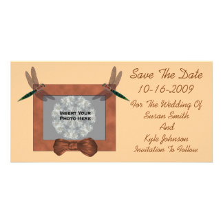 Dragonflies Wedding Save The Date Photo Card