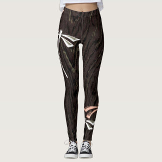 Dragonflies Woodgrain Leggings