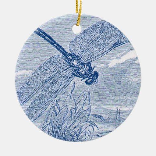 Dragonfly 2 ceramic ornament