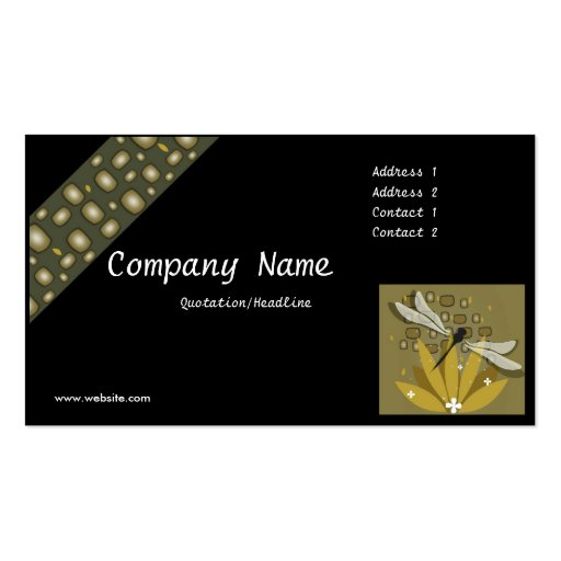 Dragonfly 2 design business card zazzle for Dragonfly business cards