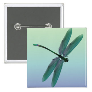 Dragonfly 2 Inch Square Button