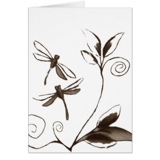 Dragonfly Abstract Card