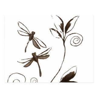 Dragonfly Abstract Postcard