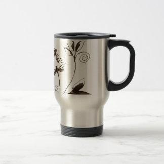 Dragonfly Abstract Travel Mug