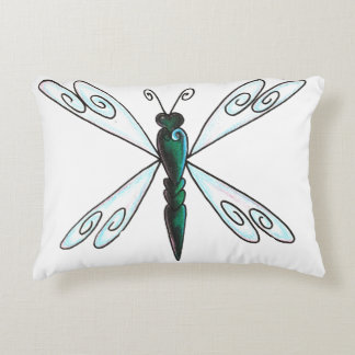 dragonfly accent pillow
