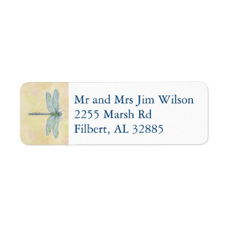 Dragonfly address label