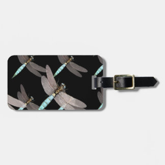 Dragonfly Air Force on Black Bag Tag
