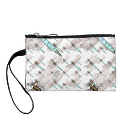 Dragonfly air Force on White Coin Wallet