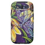 dragonfly and black eyed susans samsung galaxy s3 cover