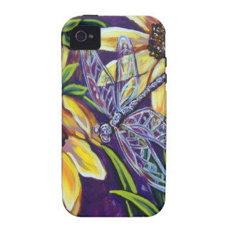 dragonfly and black eyed susans Case-Mate iPhone 4 covers