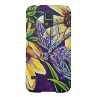dragonfly and black eyed susans galaxy s5 cover