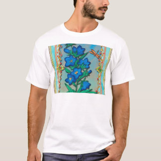 Dragonfly and Blue Flowers T-Shirt
