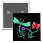 Dragonfly and Butterfly Button