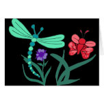 Dragonfly and Butterfly Greeting Cards
