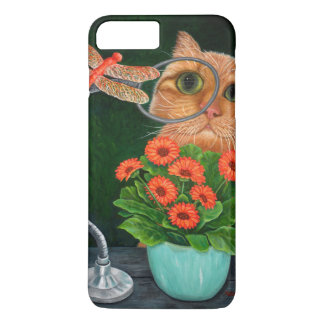 Dragonfly and Cat iPhone 7 Plus Case