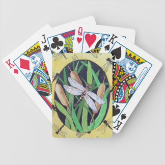 Dragonfly and Cattails Bicycle Playing Cards
