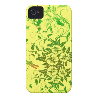 Dragonfly and Floral Blackberry Bold Case