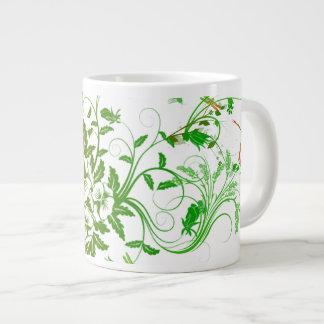Dragonfly and Floral Jumbo Mug