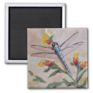 Dragonfly and flower magnet