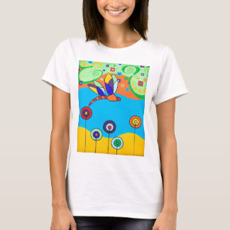 Dragonfly and Lollipop Flowers T-Shirt