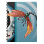 Dragonfly and moon note books